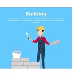 Building Banner Web Design Flat vector image vector image