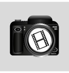 Digital photo camera roll film vector