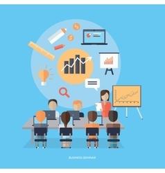 Business seminar concept vector