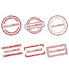 Halloween stamps vector image vector image