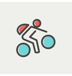 Mountain bike rider thin line icon vector image vector image