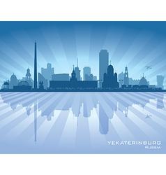 Yekaterinburg Russia skyline city silhouette vector image vector image