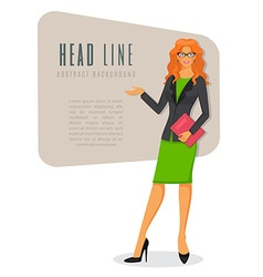Businesswoman in various poses vector image vector image