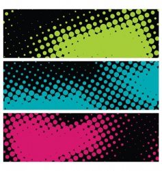 grunge halftone banners vector image vector image