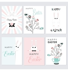 set of Easter cards vector image vector image