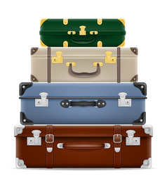 travel suitcases stock vector image