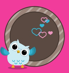 baby frame with owl vector image vector image