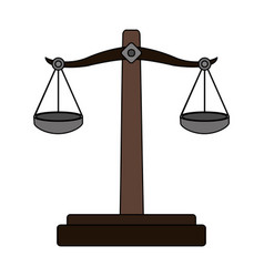 color graphic balance symbol of justice vector image vector image