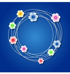 Colored floral wreath vector image vector image
