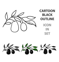 italian olives from italy icon in cartoon style vector image