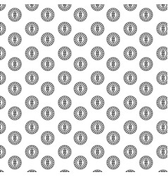 silhouette pattern coins with dollar symbol inside vector image
