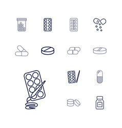 13 capsule icons vector