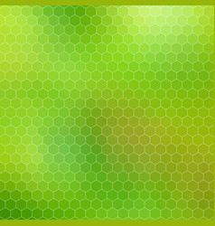 abstract geometric hexagon grid - shades of green vector image