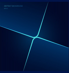 abstract template square shape blue neon glowing vector image