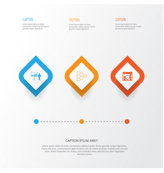 Administration icons set collection system vector