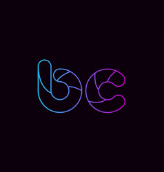 Alphabet letter combination bc b c logo company vector