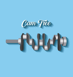 Automotive industry cam tree spare part car vector