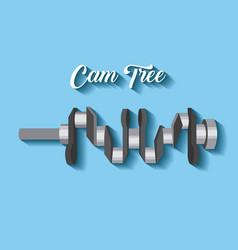 Automotive industry cam tree spare part car vector