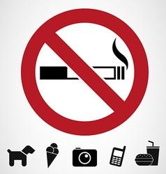 Ban signs vector