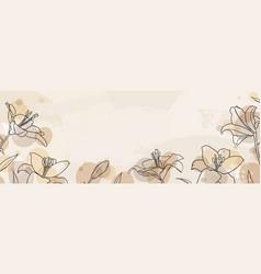 banner background creative minimalist hand vector image