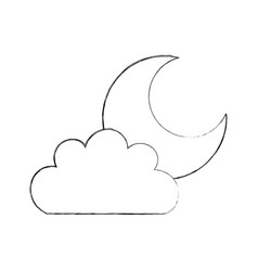 beautiful fantasy cloud with moon vector image