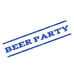 Beer Party Watermark Stamp vector image