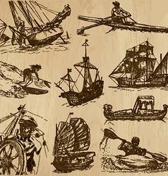 Boats - An hand drawn vector