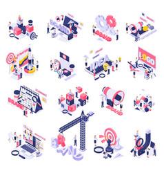 branding concept symbols icons vector image
