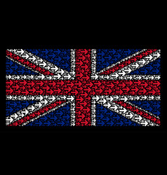 British flag pattern of right arrow items vector