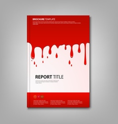 Brochures book or flyer with spilled red color vector