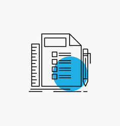 business list plan planning task line icon vector image