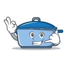 Call me kitchen character cartoon style vector