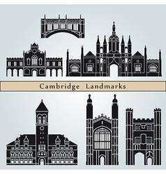Cambridge landmarks and monuments vector