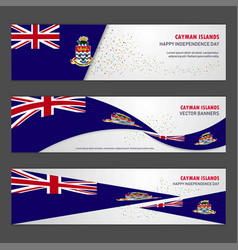 Cayman islands independence day abstract vector