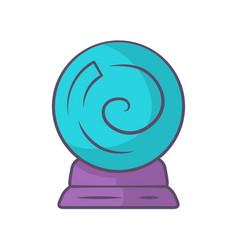 crystal ball blue color icon gypsy fortune vector image