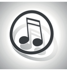 Curved music sign icon 2 vector