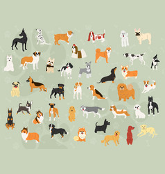 Cute dogs in action wallpaper design vector