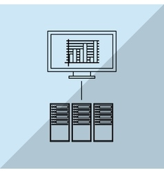 Data center and computer design vector