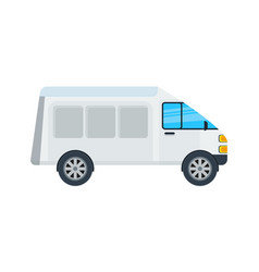 Delivery van isolated icon vector