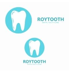 Dental tooth logo design vector