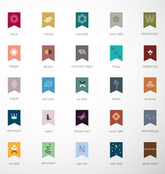 Emblems and elements for design vector image
