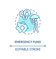 Emergency fund icon vector