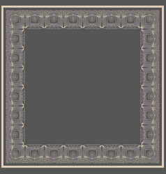 Fine floral square frame decorative vector