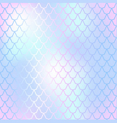 fish skin seamless pattern mermaid scale vector image