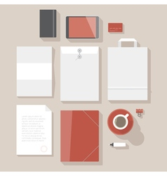 Flat design corporate identity mock-up vector image