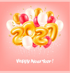 Foil balloons numbers 2021 for new year and vector