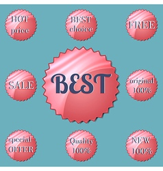 Glossy red round Special Offer stickers vector image