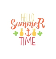 Great Summer Time Colorful Ad vector