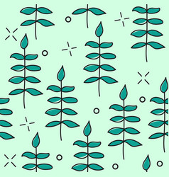 hand drawn seamless pattern with floral vector image