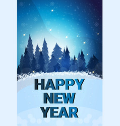 happy new year merry christmas concept winter fir vector image